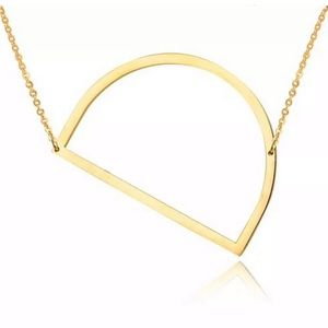 Jewelry - D Block Letter Monogram Stainless Steel Necklace